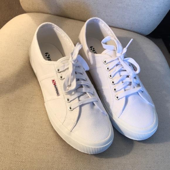 Superga Womens White Canvas Sneakers